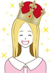王冠 金 笑顔