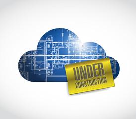 under construction blueprint cloud.