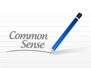 common sense message illustration