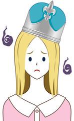 王冠 銀 困り顔