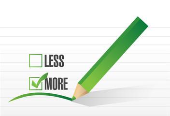 more check list selection illustration