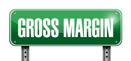 gross margin road sign illustration