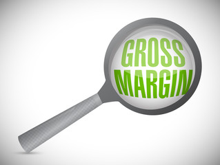 gross margin magnify search illustration design