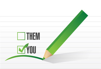you check list selection illustration