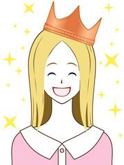 王冠 銅 笑顔