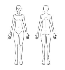 人体図 女性