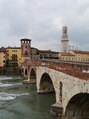Ponte Pietre a bridge in Verona in Italy
