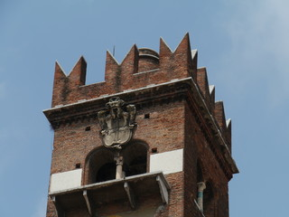 The Gardelle tower in Verona in Italy