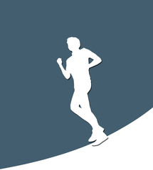 Running Male white paper silhouette