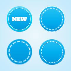 Round blue labels.