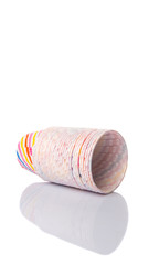 Cupcake paper baking cups over white background