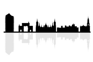 Zaragoza background in editable vector file
