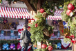 Christmas market with decorations in London - 74589641
