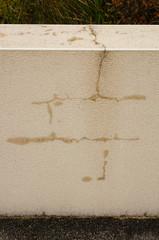 Wasserinfiltration an Mauer mit fehlenden Abdeckplatten