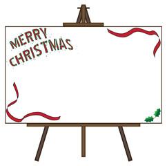 Christmas Giant Blank Canvas on Easel