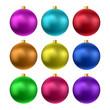Vector realistic christmas balls