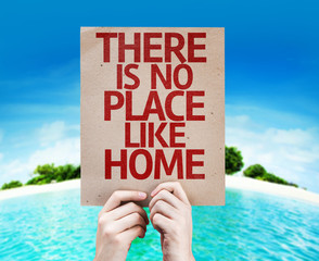 There Is No Place Like Home card with colorful background