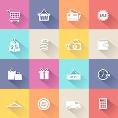 Shopping Icons - Flat Design