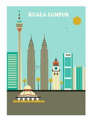 Kuala Lumpur. Vector