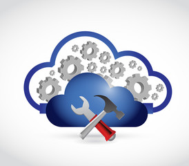cloud industrial connection illustration
