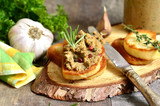 Pate from beef liver and vegetables.