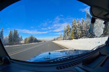 Auto Straße Winter