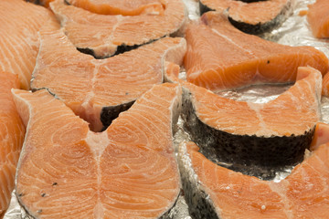 Cutlets of salmon