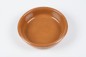 Cazuela de barro redonda