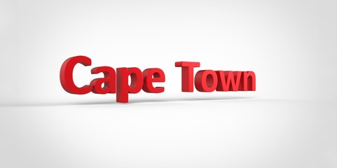Cape Town 3D text Illustration of City Name