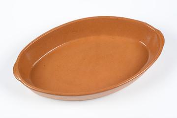 Cazuela de barro ovalada