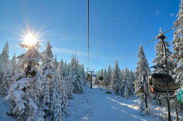 Winter am Ochsenkopf Seilbahn