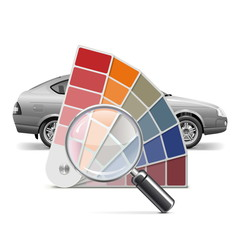 Vector Color Palette for Car