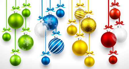 Set of Christmas balls. Vector