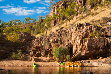 Canoes in Katherine Gorge, Australia