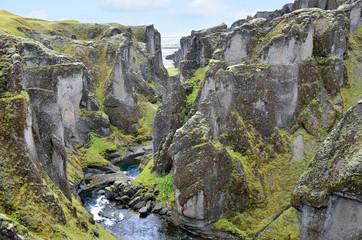 Каньон Фьядрарглуфюр Fjadrargljufur- Большой Каньон Исландии