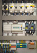 Electrical control cubicle with electrical devices - 74593238