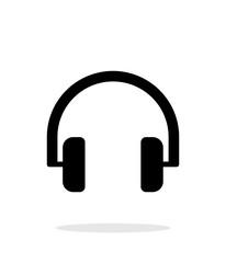 Audio headphones icon on white background.