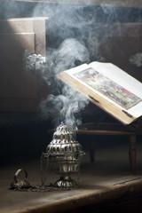 smoke from incense at Christian church