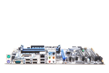 modern computer mainboard (motherboard)