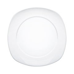 Plate on white background