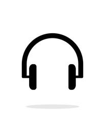 Headphones icon on white background.