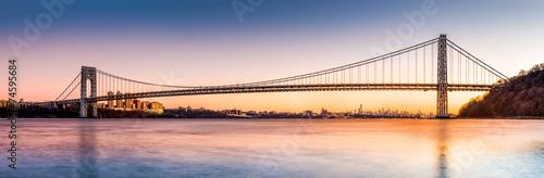 Fotobehang Brug George Washington Bridge panorama