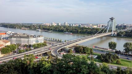 Novy most (New Bridge) in Bratislava