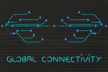 design of optical fibre, connectivity through the web
