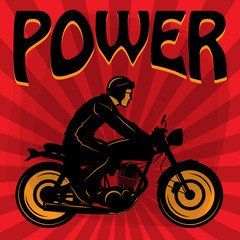 Vintage Motorcycle poster, vector