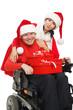 Disabled Santa Claus and Santa Girl