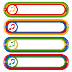 four colored frames for any text and music icon
