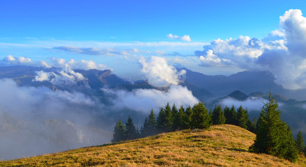 Panoramic view from Mount Melegnon, prealpi Vicenza
