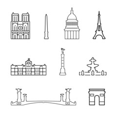 Vector icons of France