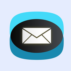 Message icon ( blue color style)